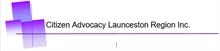 Citizen Advocacy Launceston Region Inc logo