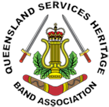 Queensland Services Heritage Band Association Logo