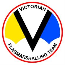 The Victorian Flagmarshalling Team Inc. Logo
